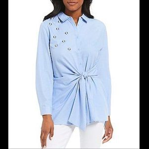 Button Down Tunic with Wrap effect Size Medium